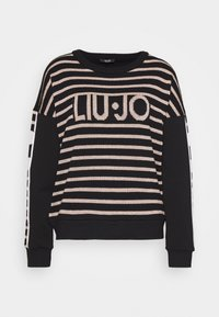 Liu Jo Jeans - FELPA CHIUSA - Strikkegenser - nero/rose light gold - 0
