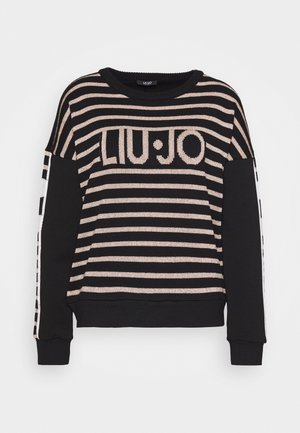 FELPA CHIUSA - Strickpullover - nero/rose light gold