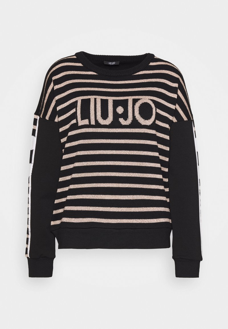 Liu Jo Jeans - FELPA CHIUSA - Strikkegenser - nero/rose light gold