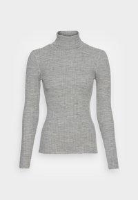 Selected Femme - SLFCOSTINA ROLLNECK - Jumper - light grey melange - 3