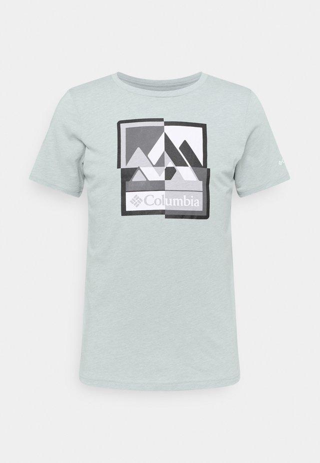 ALPINE WAY™ GRAPHIC TEE - Print T-shirt - grey heather mash up