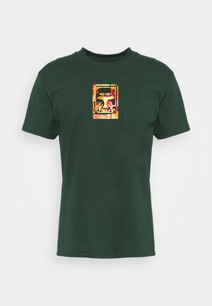 OBEY ICON FACE COLLAGE - Printtipaita - forest green