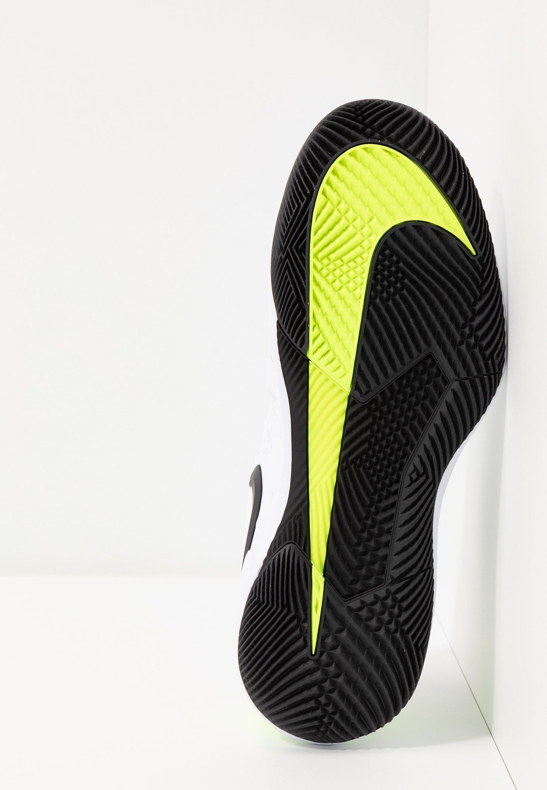 Nike Performance AIR ZOOM VAPOR X - Multicourt Tennisschuh - white/black/volt/weiß - Herrenschuhe LSOhQ