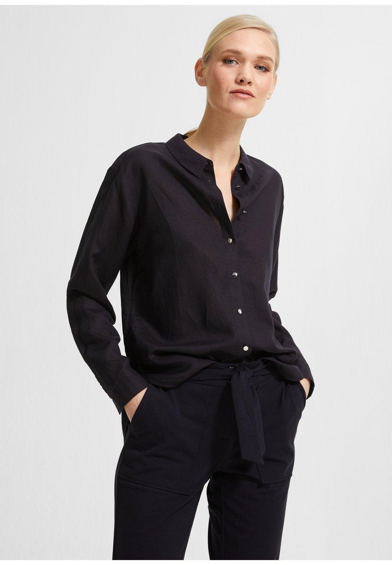 comma - Button-down blouse - dark blue