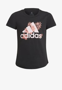 adidas Performance - TROPICAL SPORTS GRAPHIC TEE - Camiseta estampada - black - 0