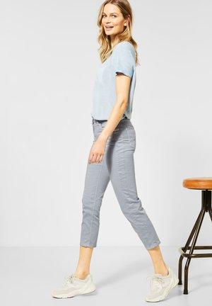 SLIM FIT CRASH-HOSE - Slim fit jeans - grau