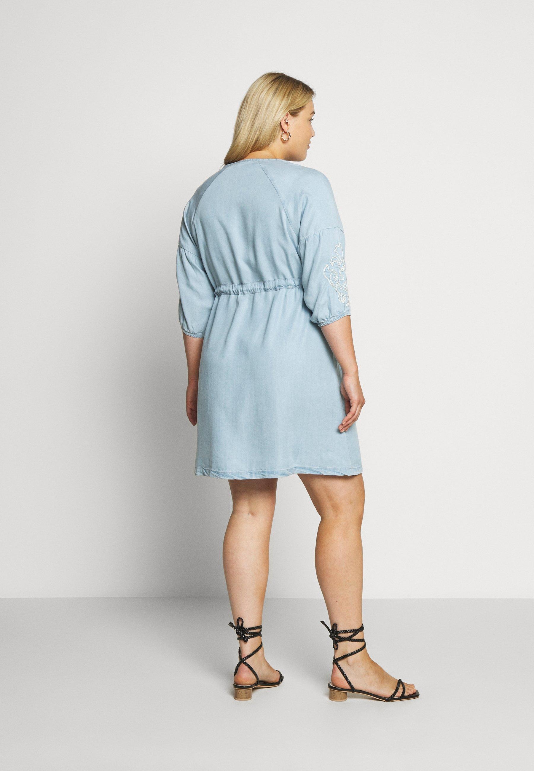 ZAY YINGE  DRESS - Day dress - light blue denim - Women's Clothing UC9GC