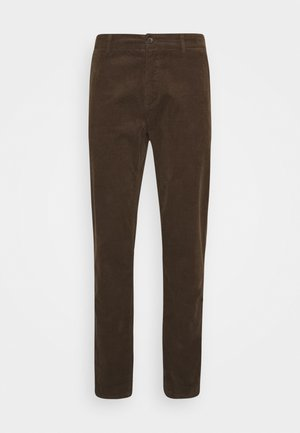 CORD TROUSERS - Tygbyxor - brown