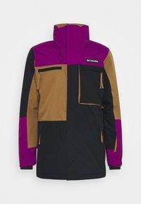 PARK RUN JACKET - Snowboard jacket - black/delta/plum