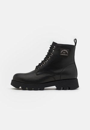 TERRA FIRMA MID LACE BOOT - Lace-up ankle boots - black