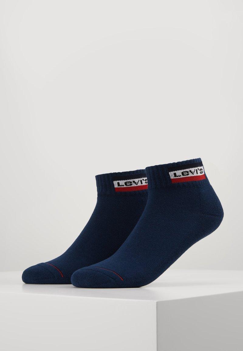 Levi's® - LEVIS 144NDL MID CUT SPRTWR LOGO 2P - Socks - dress blues