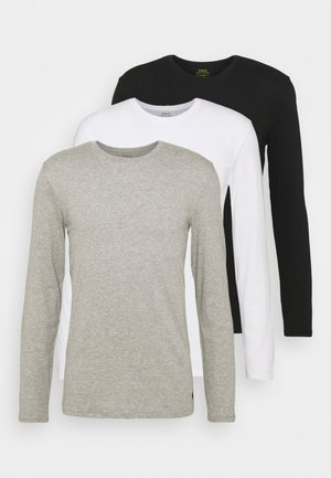 CREW 3 PACK - Aluspaita - white/black/heather