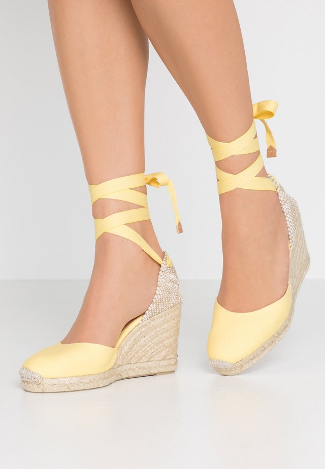 CARINA  - High heeled sandals - amarillo/pastel