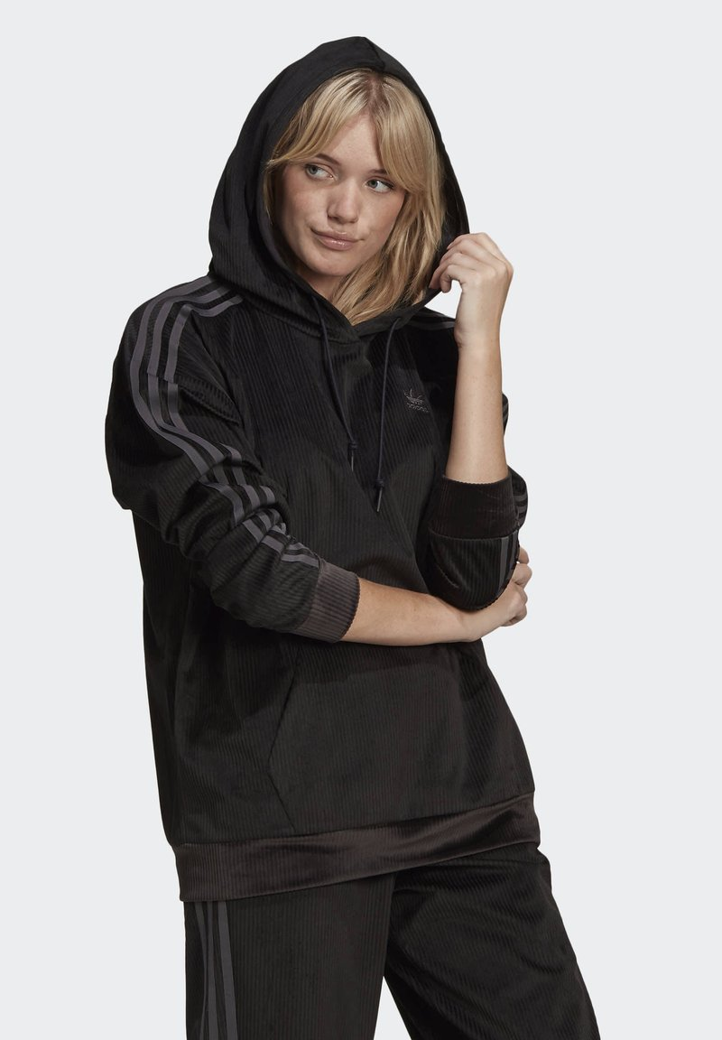 adidas Originals - SPORTS INSPIRED HOODED SWEAT - Hoodie - black