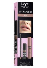 Nyx Professional Makeup - LIPS NEVER LIE SET - Makeup set - nude - 1