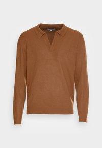 NOTCH NECK - Stickad tröja - rust