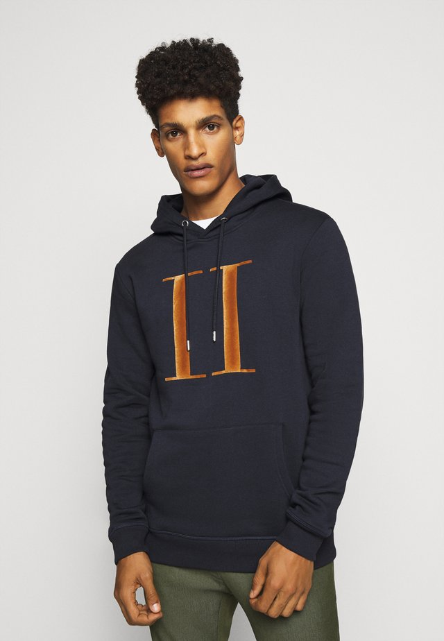 ENCORE HOODIE - Hoodie - dark navy/rusty brown
