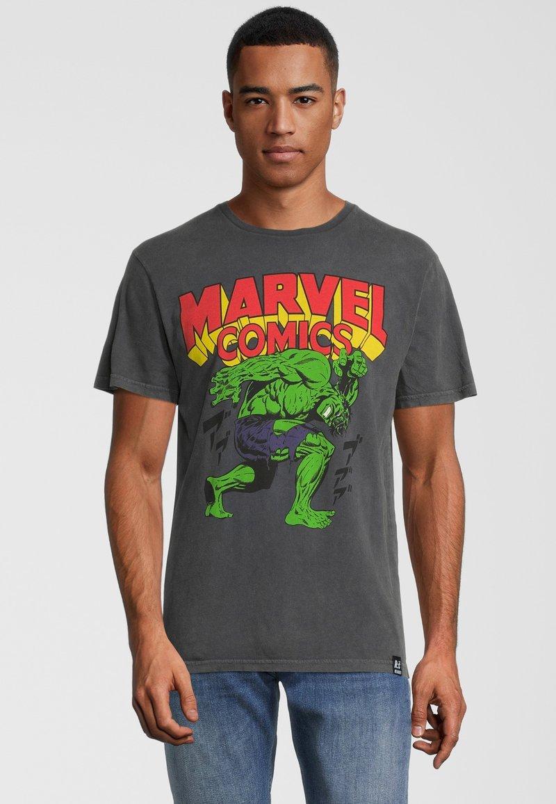 Re:Covered - MARVEL COMICS HULK  - Print T-shirt - grau