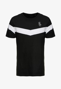 Brave Soul - CHEVRON - Print T-shirt - black/white - 4