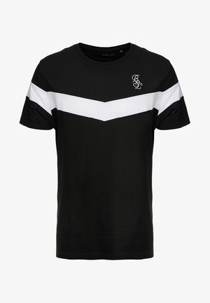 CHEVRON - T-shirt con stampa - black/white