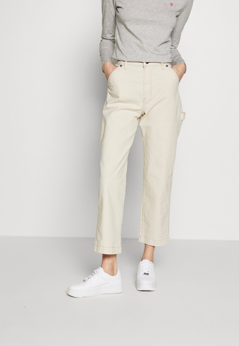 GAP - HIGH RISE CARPENTER - Spodnie materiałowe - french vanilla