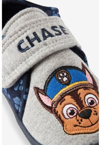 Next - PAW PATROL STRAP TOUCH FASTEN CUPSOLE SLIPPERS - First shoes - grey - 4