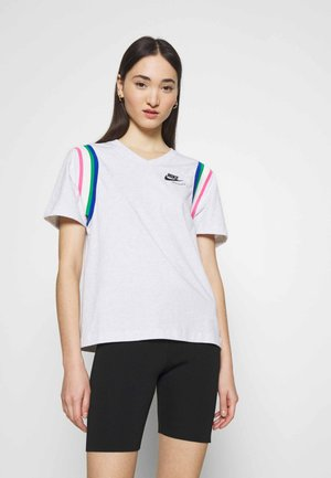 Camiseta estampada - birch heather/black