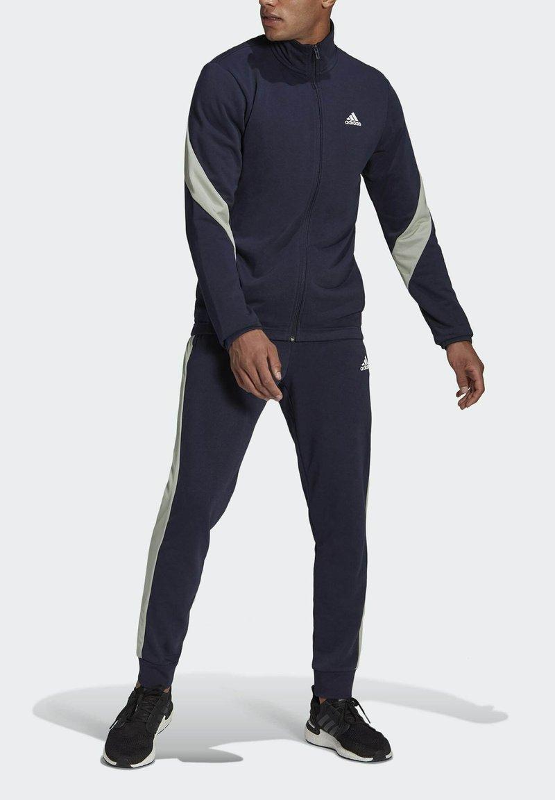 adidas Performance - Cotton TS TRACKSUITS SPORTS TOP:REGULAR-BOTTOM:REGULAR TRACKSUIT - Survêtement - blue
