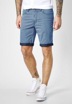 RANGER PIPE - Denim shorts - blue  light blue