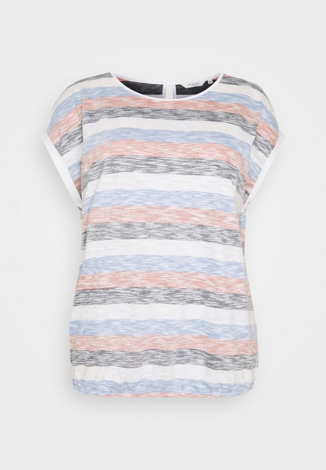 INSIDE STRIPE - T-shirt z nadrukiem - blue/multicolor