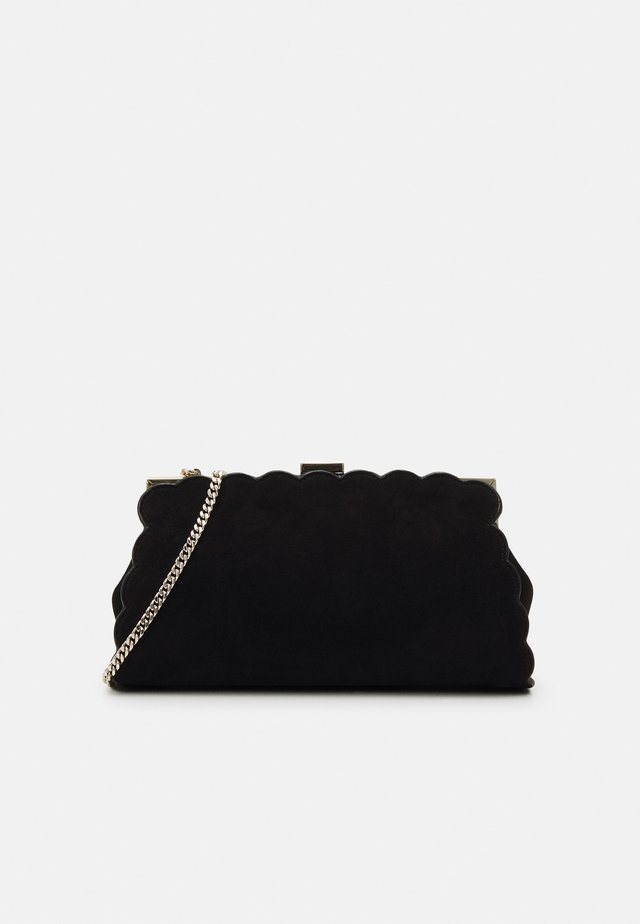 ELAYNNA SCALLOP FRAME EVENING BAG - Kuvertväska - black