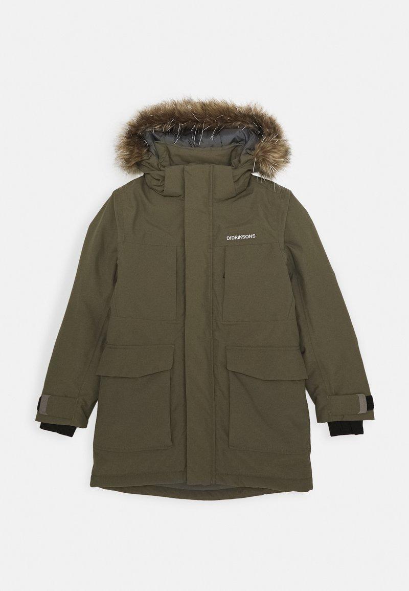 Didriksons - MADI PARKA - Hardshell jacket - fog green