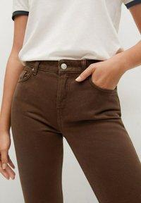 Mango - Straight leg jeans - brown - 4