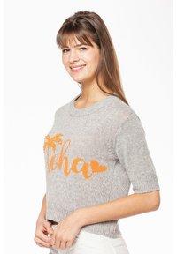 Rosa & Me - ALOHA - Print T-shirt - silver - 2