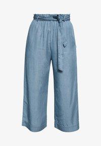 Marc O'Polo DENIM - PANTS WIDE LEG BELT - Trousers - blue grey - 5