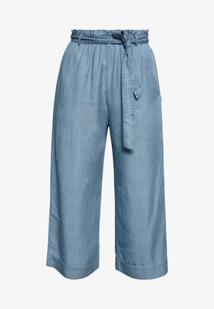 PANTS WIDE LEG BELT - Trousers - blue grey