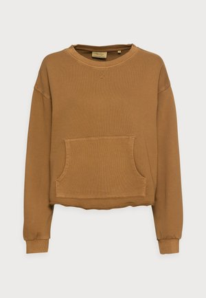 Sweatshirt - brown ochre