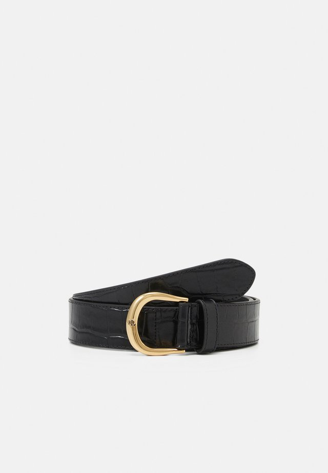 LARGE CROC EMBOSS KENTON - Riem - black