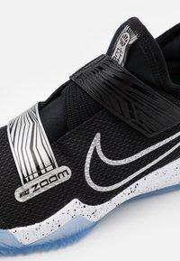 Nike Performance - ZOOM FLIGHT UNISEX - Basketball shoes - black/metallic silver/photon dust/white - 5