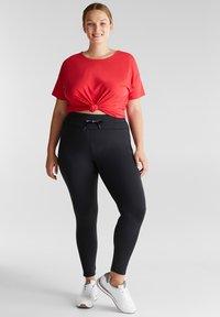 Esprit Sports - CURVY - Leggings - black - 1