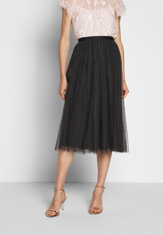KISSES MIDAXI SKIRT EXCLUSIVE - Falda acampanada - graphite grey
