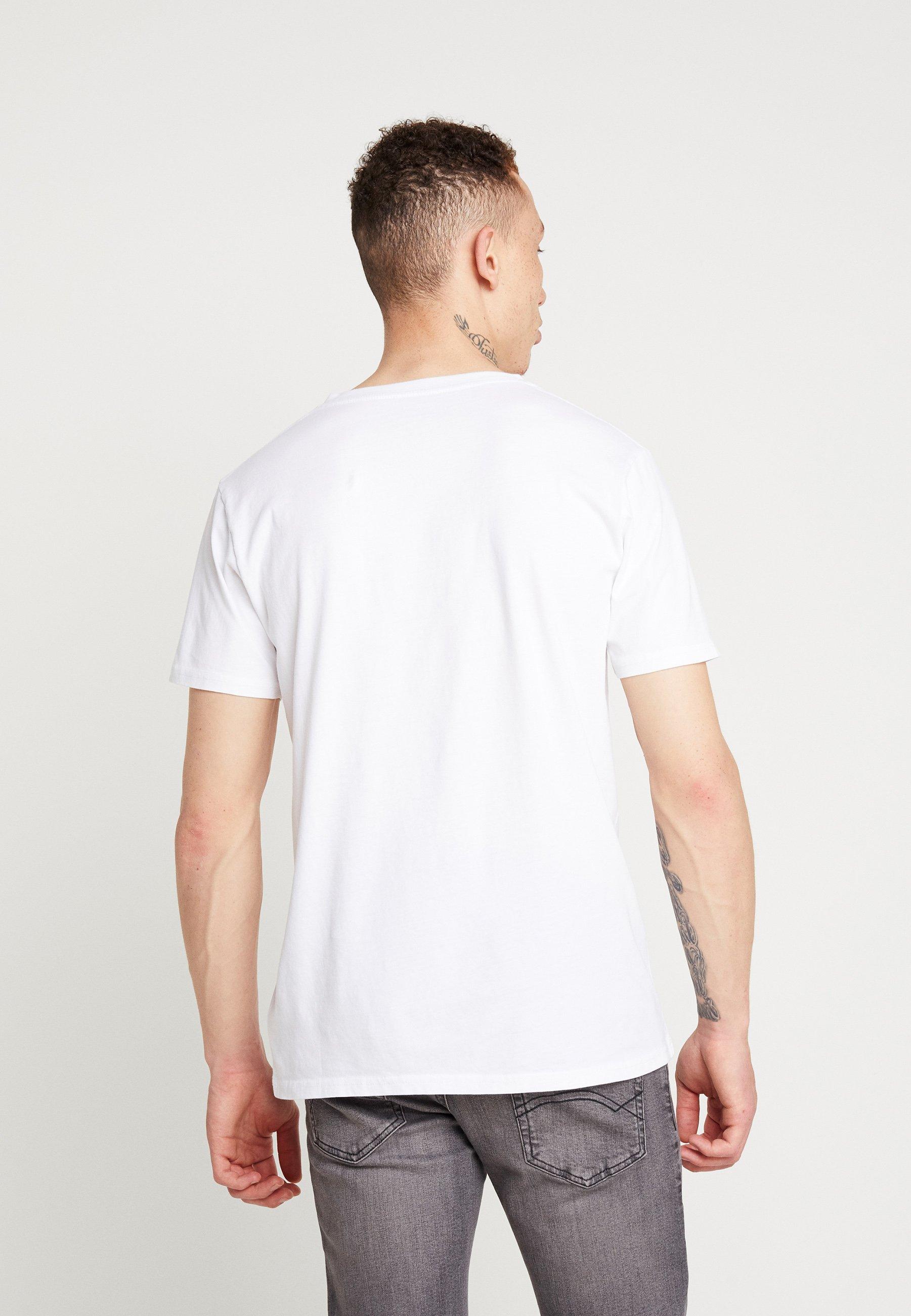 Knowledge Cotton Apparel BASIC REGULAR FIT V-NECK TEE - T-shirt basic - bright white - Odzież męska Tani