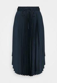 ELASTICATED PLEATED SKIRT - A-line skirt - navy