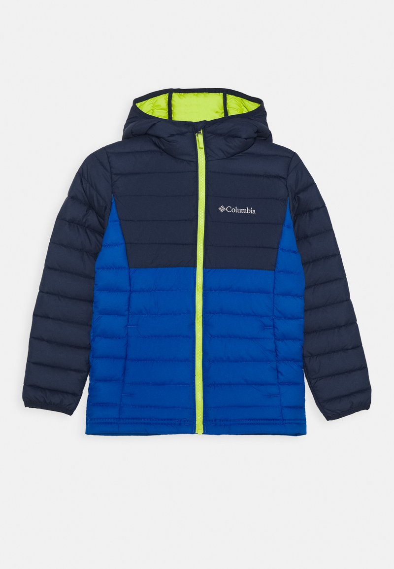 Columbia - POWDER LITE BOYS HOODED - Snowboard jacket - bright indigo/collegiate navy
