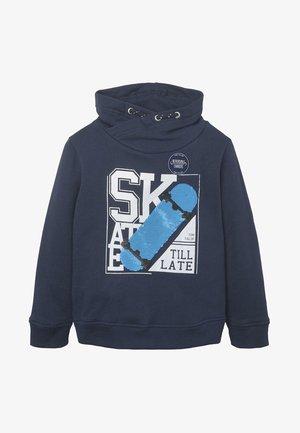 MIT KRAGEN UND PAILLETTENMOTIV - Sweatshirt - blue