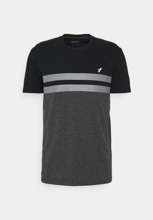 T-Shirt print - black/grey