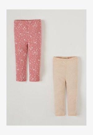 2PACK - Leggings - beige/pink