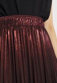 Molly Bracken - LADIES WOVEN SKIRT - A-line skirt - dark red - 4