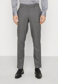 Isaac Dewhirst - CHECK DOUBLE BREASTED SUIT - Oblek - grey - 4