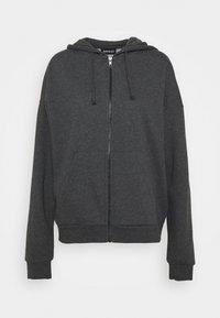 Oversized Hooded Sweat Jacket - Zip-up hoodie - mottled dark grey
